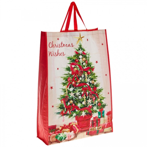 Decorated Christmas Tree and Presents Christmas Bag for Life - Jumbo