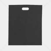 Black Patch Handle Fashion Carrier Bags 38x46+8cm x 500pcs
