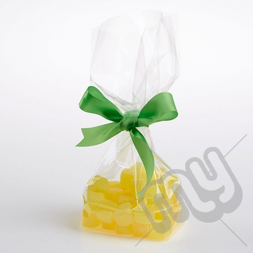 Clear Block Bottom Cellophane Bags - 130x240mm x 100pcs