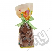 Summer's Day Cockerel and Floral Easter Printed Block Bottom Bags - 100mmx220mm x 10pcs
