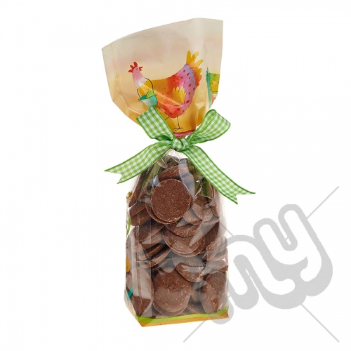 Summer's Day Cockerel and Floral Easter Printed Block Bottom Bags - 100mmx220mm x 100pcs