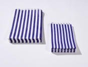 7 x 9 Blue Candy Stripe Paper Bags x 1000pcs