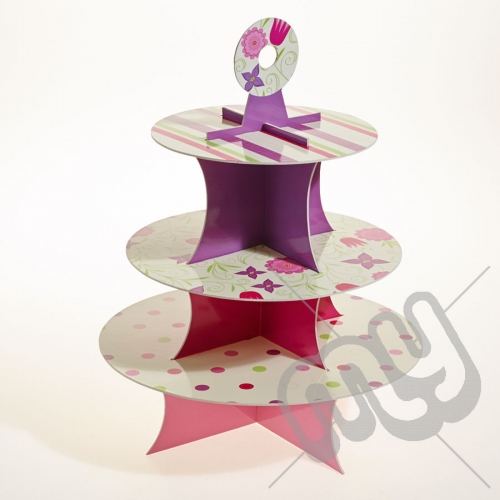 3 Tier Vintage Floral Cake Stand x 1pc
