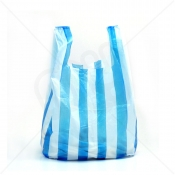 Candy Striped Plastic Carrier Bag 12x18x23 18 Micron (Heavy Strength) x 1000pcs