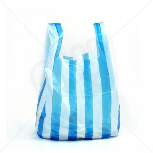 Candy Striped Plastic Carrier Bag 10x15x18 9 Micron (Light Strength) x 2000pcs