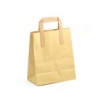 Brown & White Kraft Paper Carrier Bags