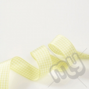 Yellow Gingham Ribbon 25mm x 20 metres