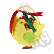 Yellow Chicken Felt Bag / Basket