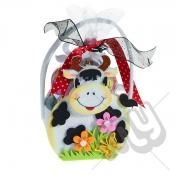 Barn Yard Cow Felt Bag / Basket