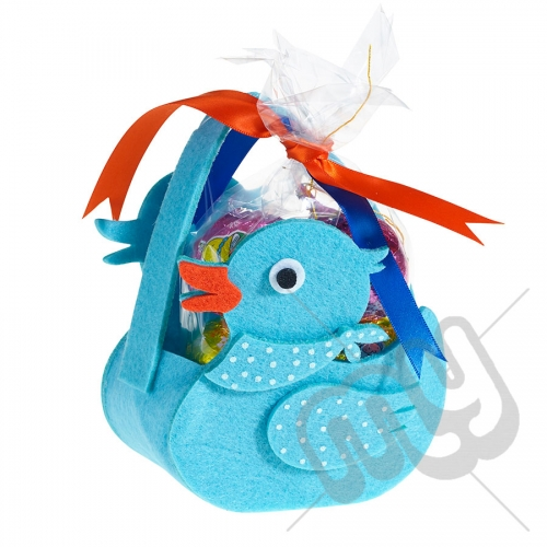 Blue Rubber Duck Felt Bag / Basket