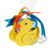 Yellow Rubber Duck Felt Bag / Basket