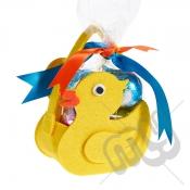 Yellow Rubber Duck Felt Bag / Basket