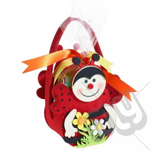 Ladybird Felt Bag / Basket
