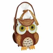 Spooky Owl Halloween Felt Bag / Basket