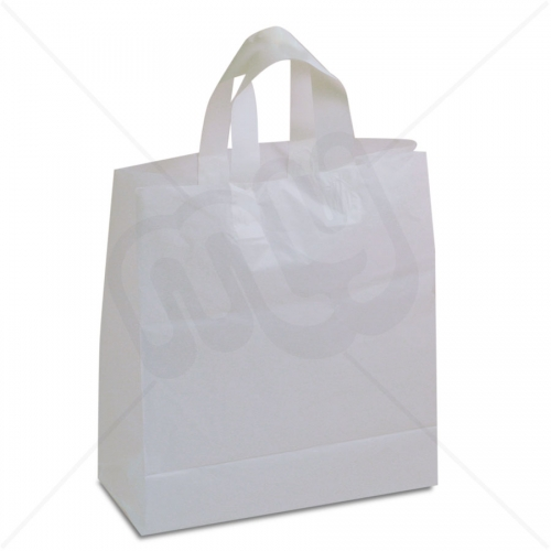 White Flexi-Loop SOS Carrier Bags - MEDIUM x 250pcs