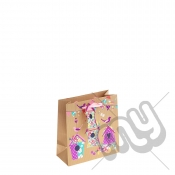 Vintage Garden Birdhouse with Pink Foil Detail - Small x 1pc
