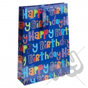 Blue Boyish Happy Birthday Gift Bag - Extra Large x 1pc