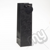 Luxury Black Glitter Paper Gift Bag - Bottle x 1pc