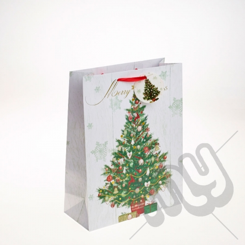 Decorated Christmas Tree Christmas Gift Bag - Large x 1pc