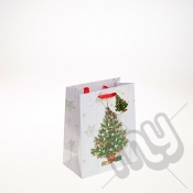 Decorated Christmas Tree Christmas Gift Bag - Medium x 1pc