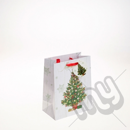 Decorated Christmas Tree Christmas Gift Bag - Medium x 1pc
