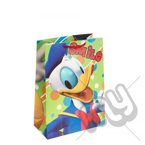 Smile Donald Duck Gift Bag -  Large x 1pc