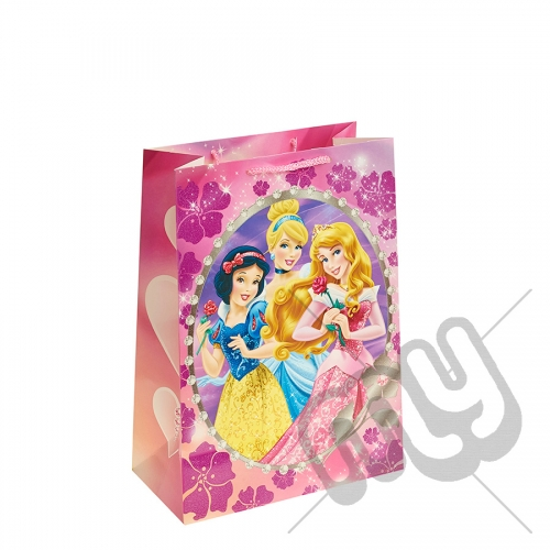 Sleeping Beauty, Snow White & Cinderella Gift Bag - Large x 1pc