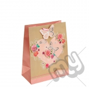Nature Love with Glitter and Silver Foil Detail - Large x 1pc