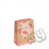 Nature Love with Glitter and Silver Foil Detail - Medium x 1pc