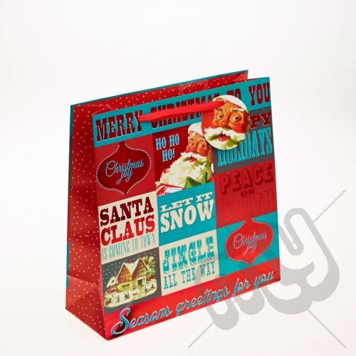 Merry Christmas & Happy Holidays Christmas Gift Bag - Medium x 1pc