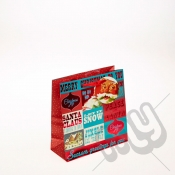 Merry Christmas & Happy Holidays Christmas Gift Bag - Small x 1pc