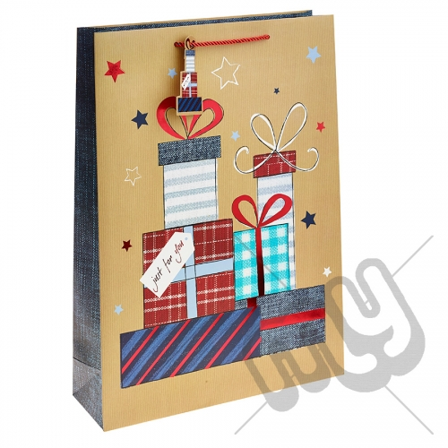 ' Just For You ' Gift Bag with Foil Detail - Extra Large x 1pc