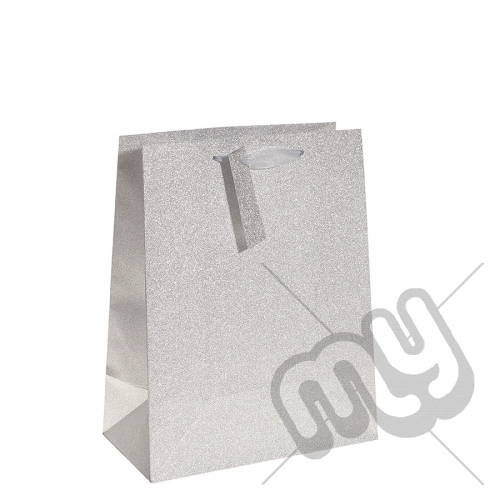 Silver Glitter Gift Bag - Large x 1pc