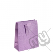 Pink / Purple Glitter Gift Bag - Medium x 1pc