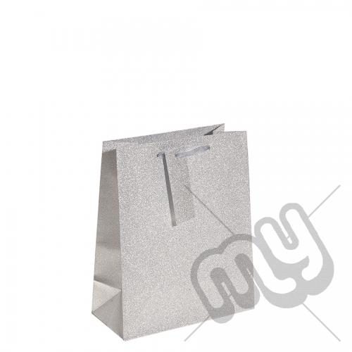 Silver Glitter Gift Bag - Medium x 1pc
