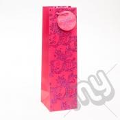 Luxury Pink Glitter Paper Gift Bag - Bottle x 1pc