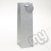 Luxury Silver Glitter Paper Gift Bag - Bottle x 1pc