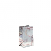 Silver Metallic Happy Christmas Gift Bag – Small x 1pc