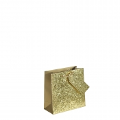 Crushed Gold Glitter Square Gift Bag – Medium x 1pc