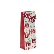 Ho Ho Ho Merry Christmas Gift Bag – Bottle Bag x 1pc