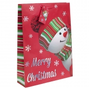 Peeking Snowman Christmas Gift Bag – Extra Large x 1pc