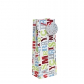 Merry Christmas Gift Bag – Bottle Bag x 1pc