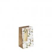 Golden Merry Christmas & Holly Christmas Gift Bag – Small x 1pc