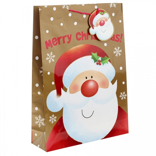 Happy Santa Wishes you a Merry Christmas Gift Bag – Extra Large x 1pc