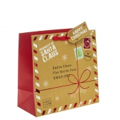 A Present for Santa Square Christmas Gift Bag – Large x 1pc