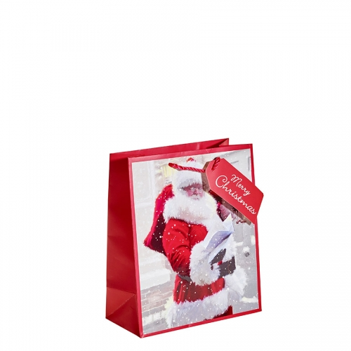 Santa Delivering Presents Christmas Gift Bag – Medium x 1pc
