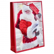 Santa Delivering Presents Christmas Gift Bag – Extra Large x 1pc
