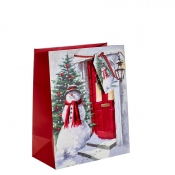The Welcoming Snowman Christmas Gift Bag – Large
