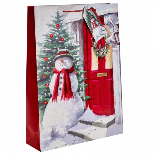 The Welcoming Snowman Christmas Gift Bag – Extra Large