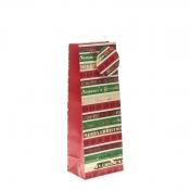 Season's Greetings Christmas Gift Bag – Bottle Bag x 1pc